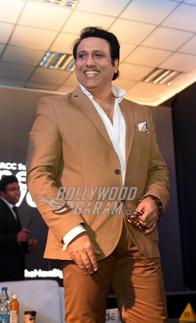 A excited Govinda at Aa Gaya Hero promotions in Delhi