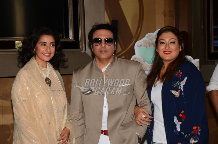 Manisha Koirala, Govinda and Sunita Ahuja at trailer launch of Aa Gaya Hero