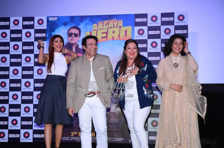 Shilpa Shetty, Govinda, Sunita Ahuja and Manisha Koirala at trailer launch of Aa Gaya Hero