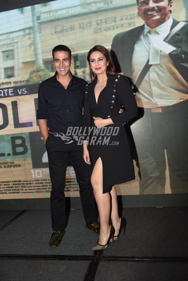 Akshay Kumar and Huma Qureshi at Jolly LLB 2 promotions in Delhi