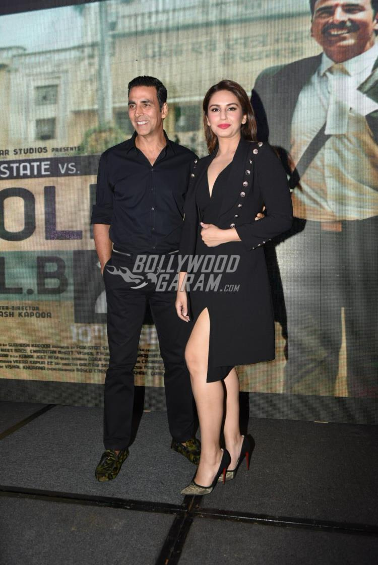 Akshay Kumar and Huma Qureshi all smiles at Jolly LLB 2 promotions in Delhi