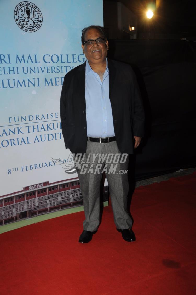 Satish Kaushik at Kirori Mal College Alumni meet