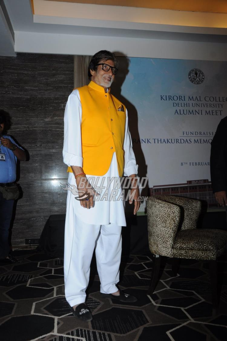 Amitabh Bachchan at Kirori Mal College Alumni meet