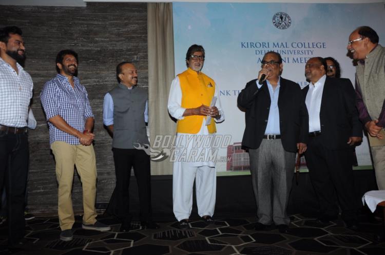 Amitabh Bachchan along with other alumni members at Kirori Mal College Alumni meet
