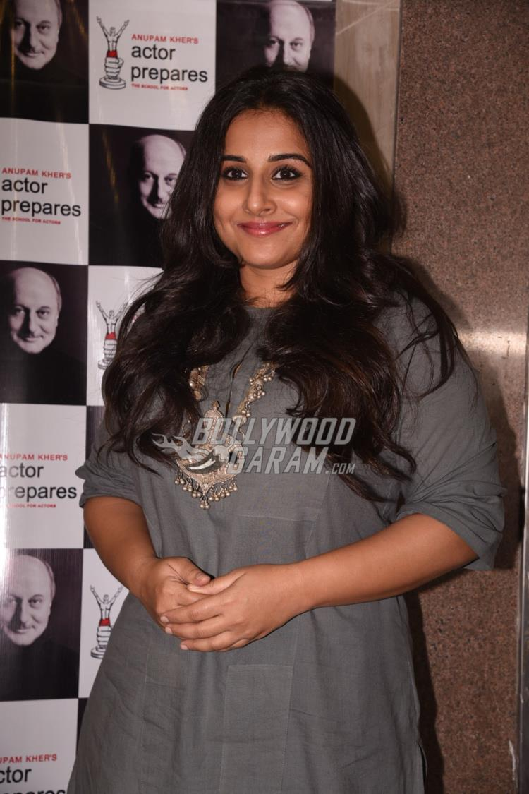 Vidya Balan at Anupam Kher's Actor Prepares Acting school
