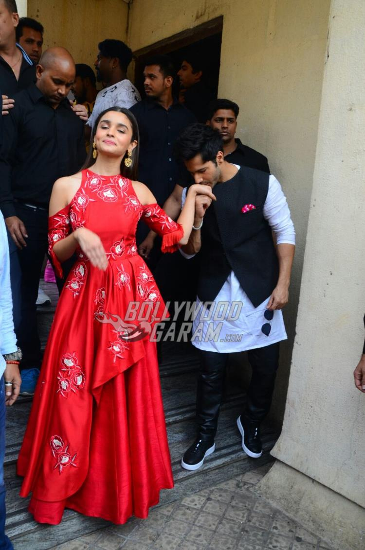 Alia Bhat and Varun Dhawan at Badrinath Ki Dulhaniya trailer launch