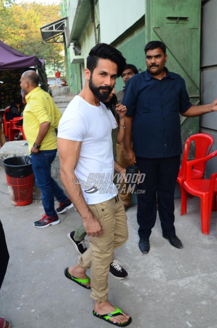 Shahid Kapoor snapped at an ad shoot location