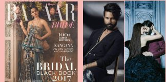 Revealed! Covers of Harper's Bazaar Bride February Editions featuring Jacqueline, Kangana and Shahid!