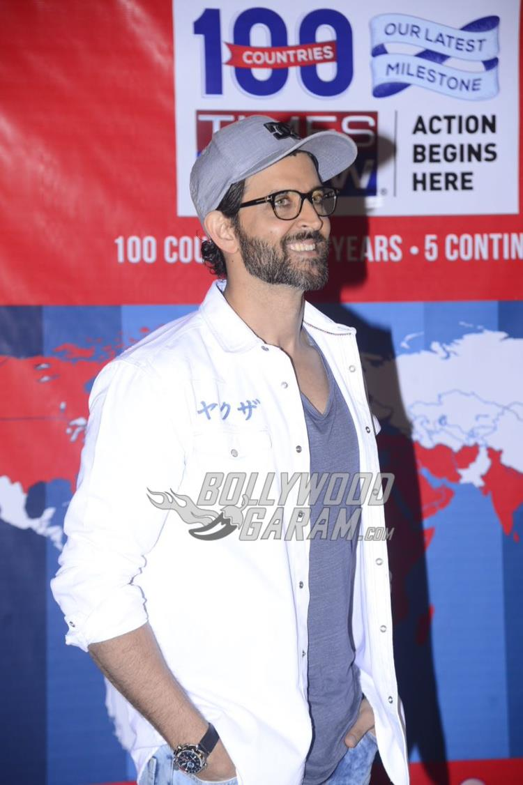 Hrithik Roshan all smiles at Times Now celebratory event