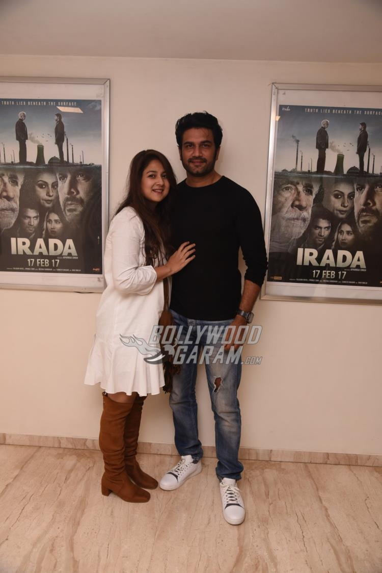 Kirti and Sharad Kelkar at special screening of Irada