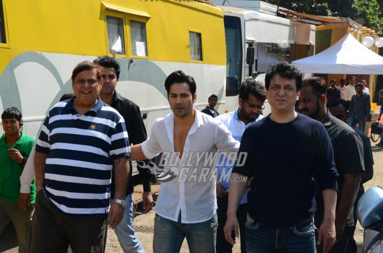 David Dhawan, Varun Dhawan and Sajid Nadiadwala at Judwaa 2 PC