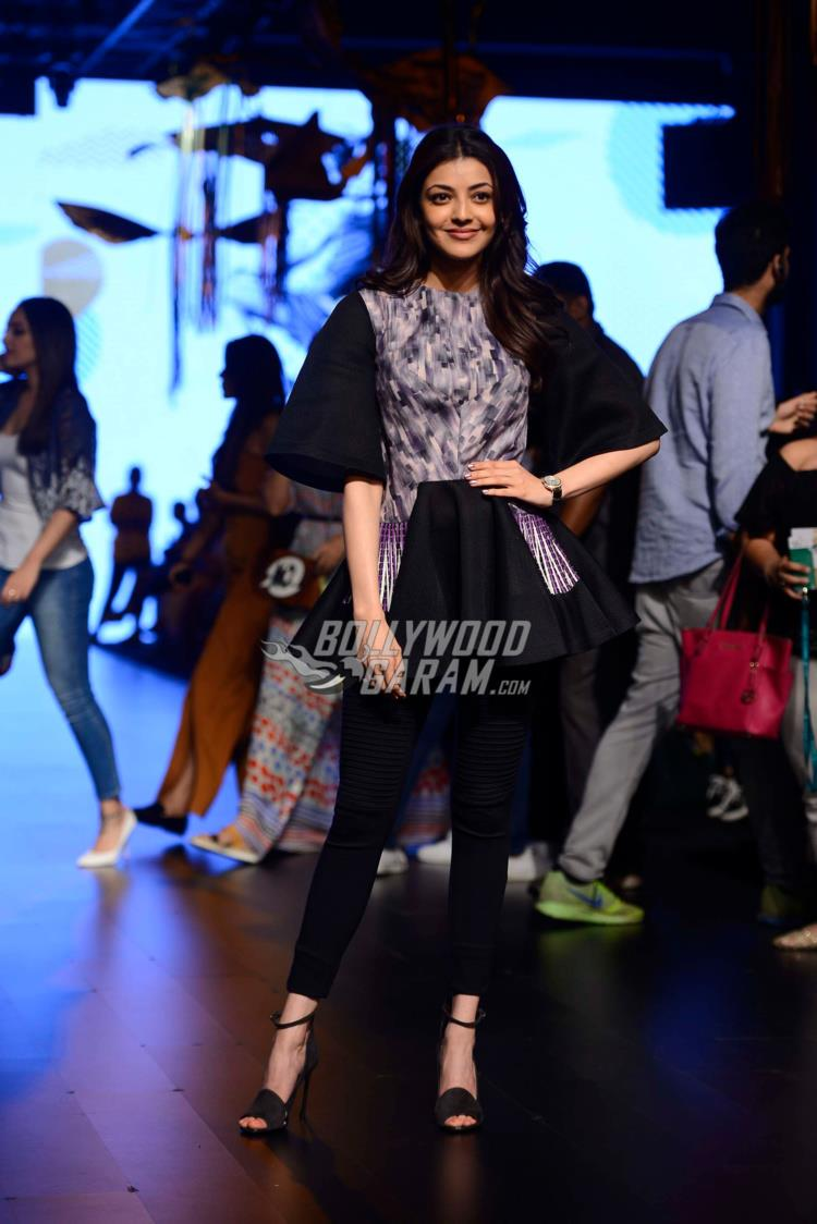 Kajal Aggarwal at Lakme Fashion Week Summer Resort 2017 Day 1