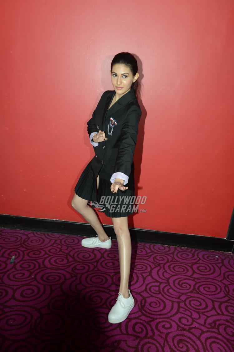 Amyra Dastur at Kung Fu Yoga promotions at Noida