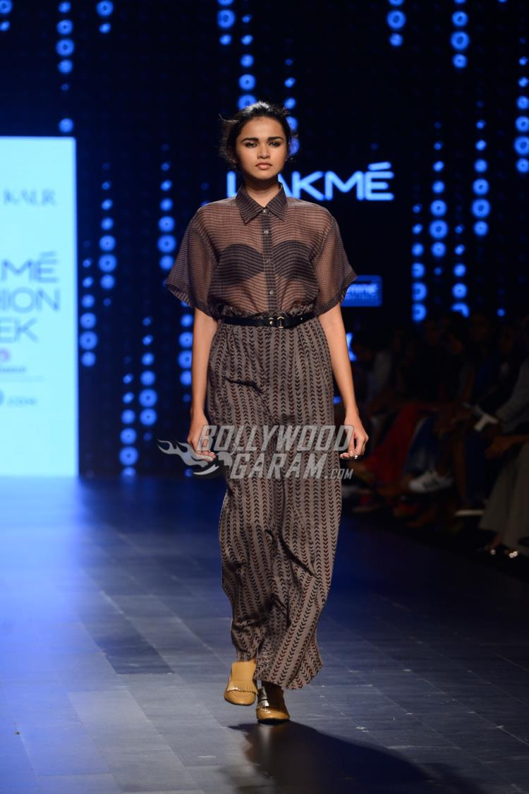 Model walks the ramp at Lakme Fashion Week Summer Resort 2017 Day 2