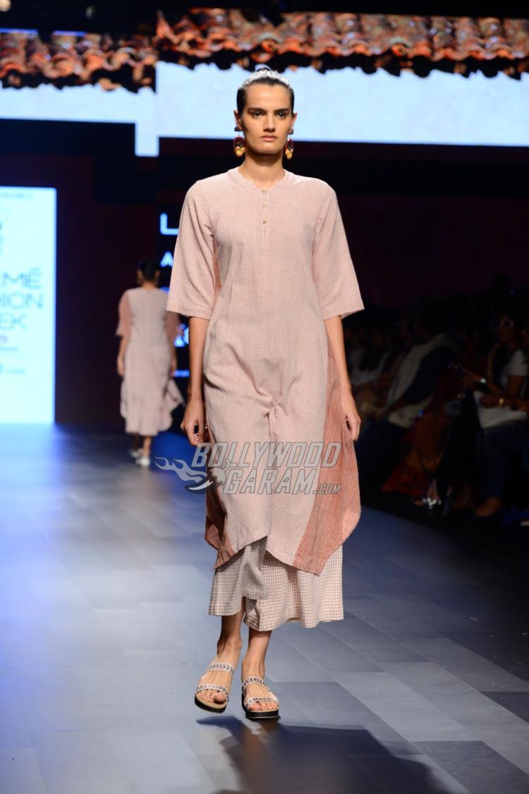Model walks the ramp  at Lakme Fashion Week Summer Resort 2017