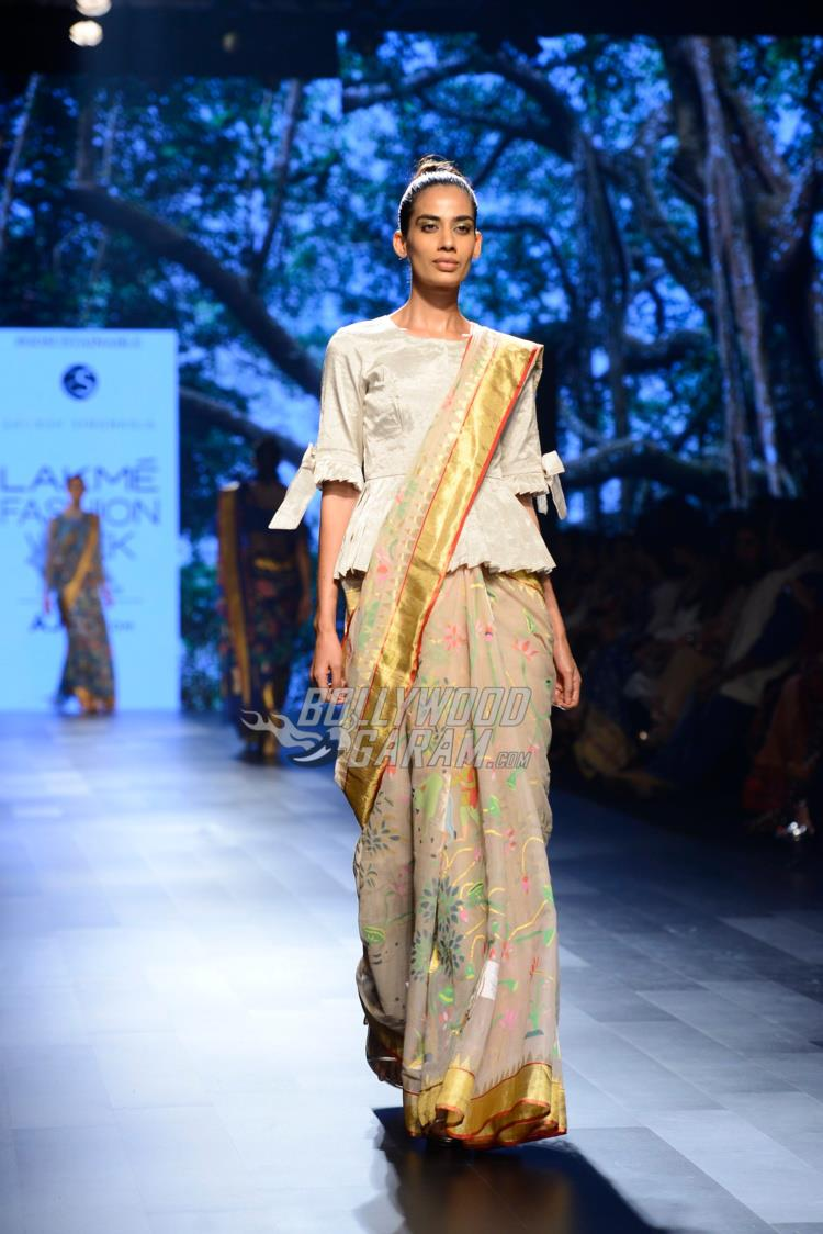 Model walks the ramp  at Lakme Fashion Week Summer Resort 2017