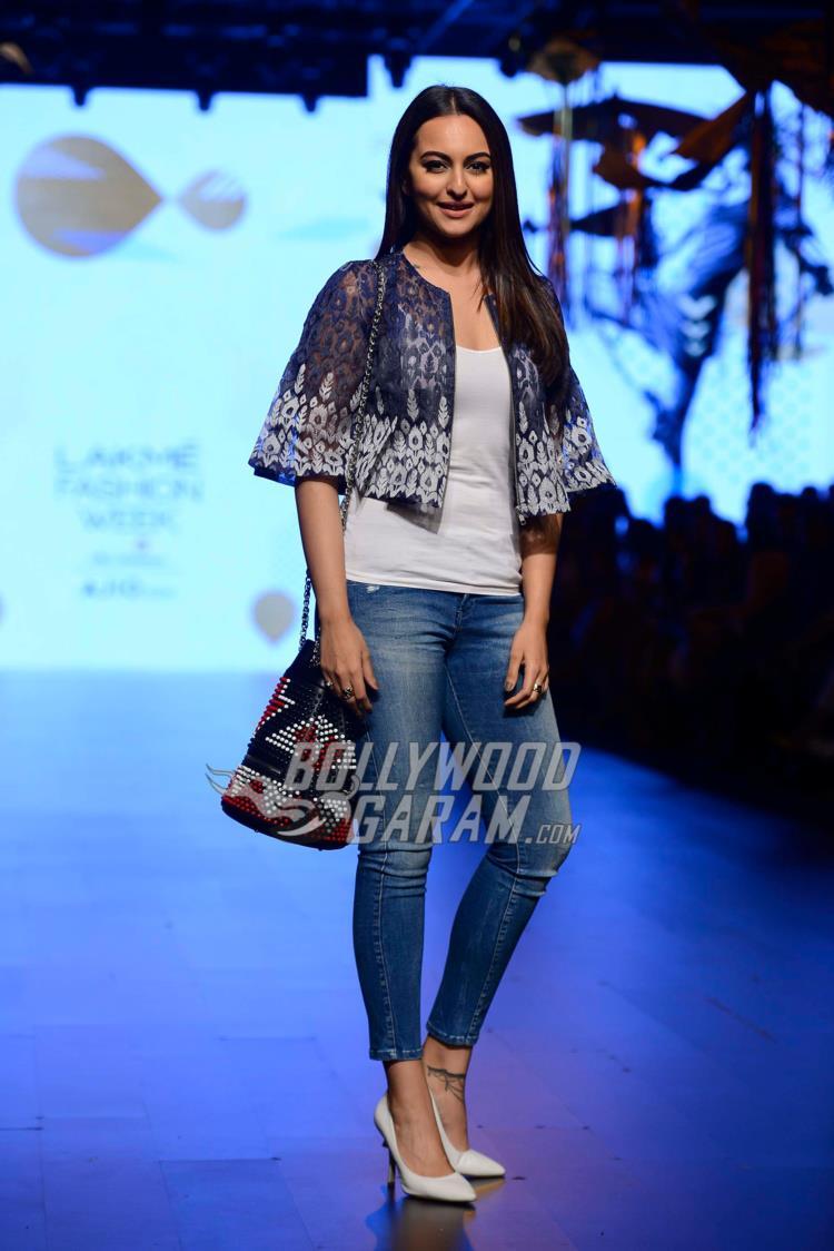 Sonakshi Sinha at Lakme Fashion Week Day 1