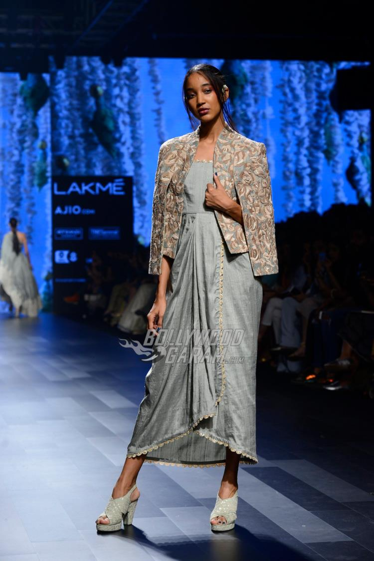 Model walks the ramp at Lakme Fashion Week Summer/Resort 2017 day 3