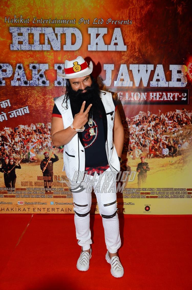 Gurmeet Ram Rahim Singh at MSG 4 premiere