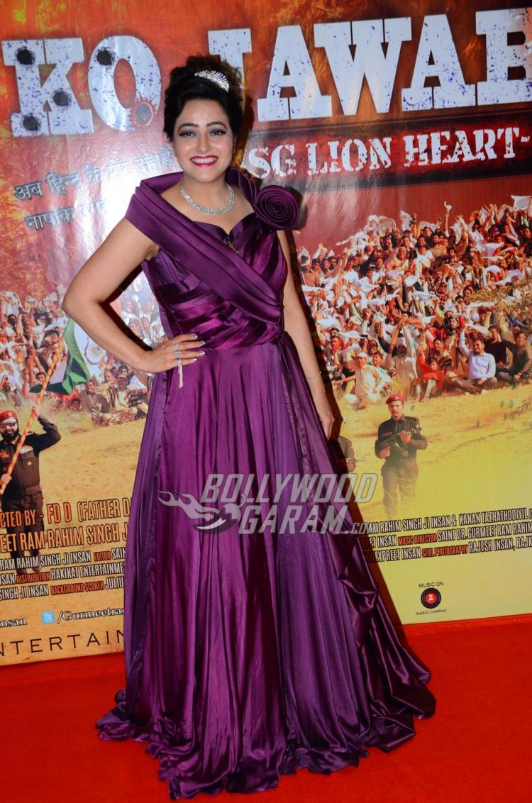 Honeypreet Insan at MSG 4 premiere