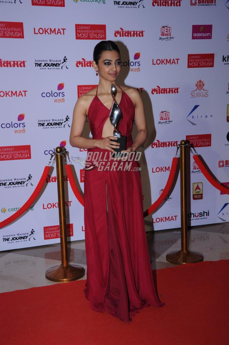Radhika Apte at Maharashtra's Most Stylish Awards red carpet