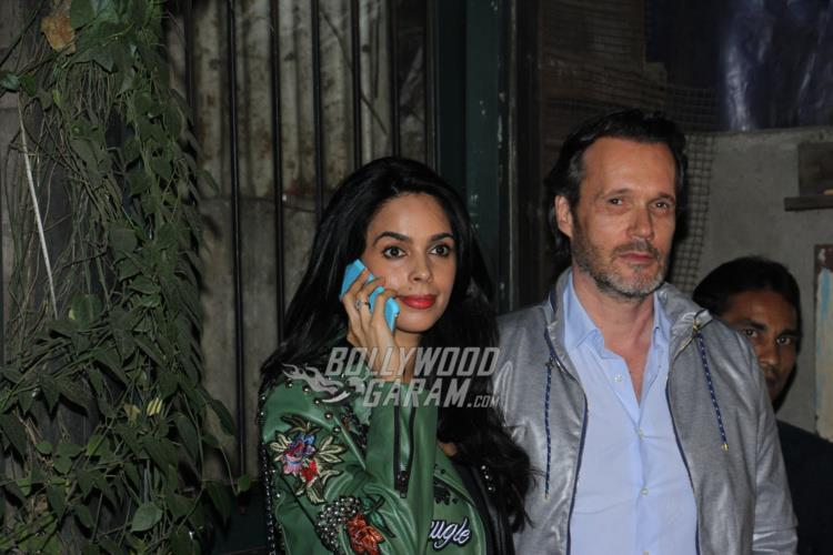 Mallika Sherawat snapped with Cyrille Auxenfans