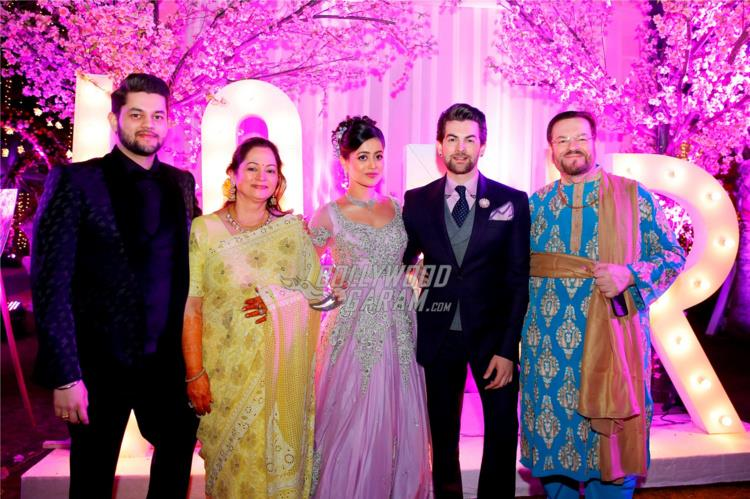 The Mukesh family at Neil and Rukmini's Pre-wedding bash in Udaipur