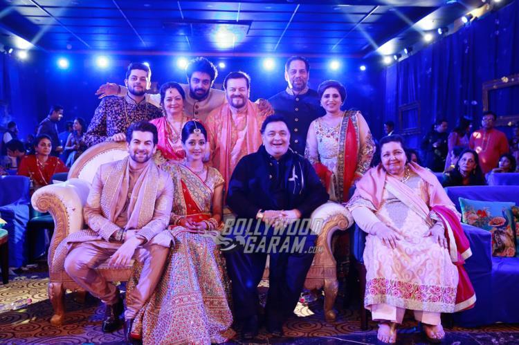 Mukesh family with Rishi Kapoor and Pamela Chopra at Neil and Rukmini's Sangeet ceremony