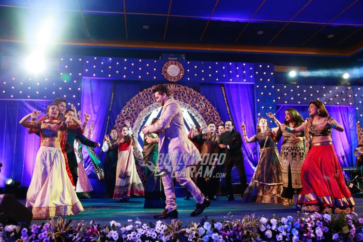 Families perform at at Neil and Rukmini's Sangeet