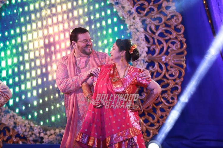 Nitin Mukesh and Nishi Mukesh shake a leg at Neil and Rukmini's Sangeet