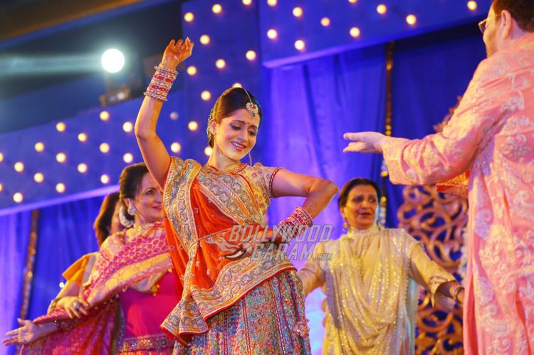 Rukmini Sahay shows off her dance moves at Sangeet ceremony