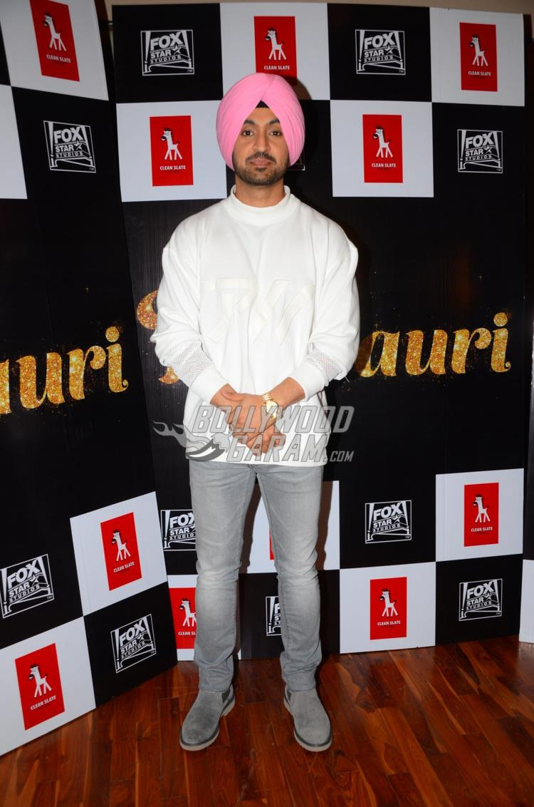 Diljit Dosanjh poses at Phillauri trailer launch event