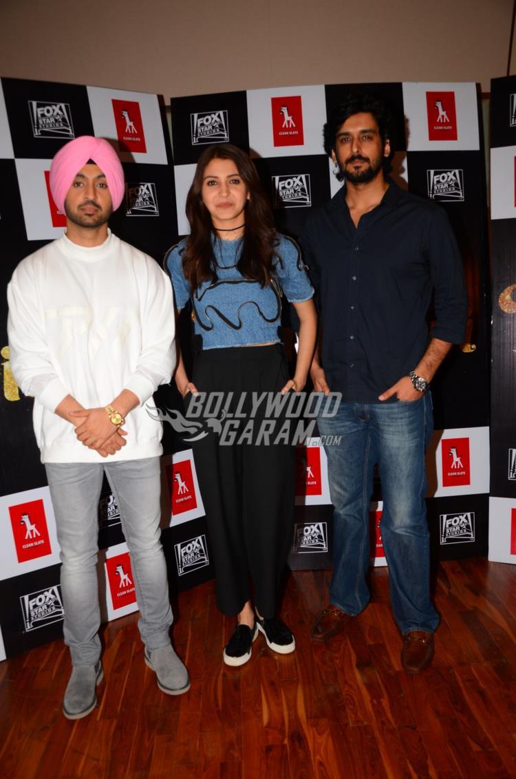 Diljit Dosanjh, Anushka Sharma and Anshai Lal at Phillauri trailer launch event