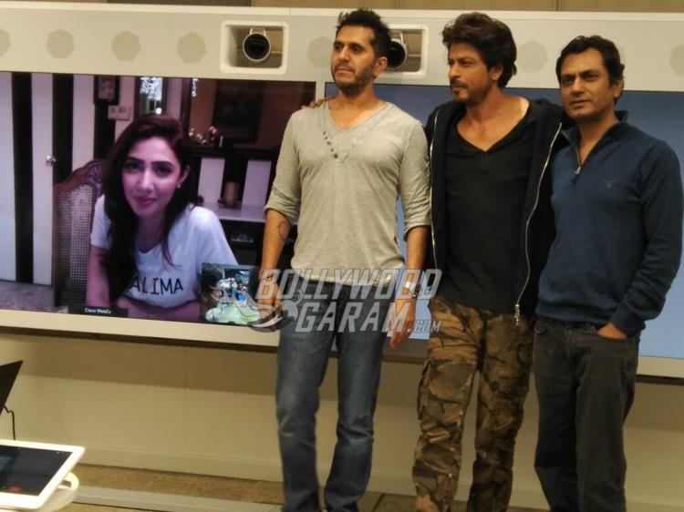 Mahira Khan joins Ritesh Sidhwani, Shahrukh Khan and Nawazuddin Siddiqui through video conference from Pakistan