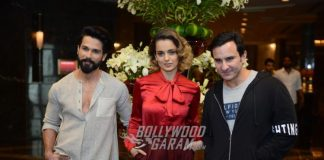 Shahid Kapoor, Kangana Ranaut and Saif Ali Khan Promote 'Rangoon' in Delhi