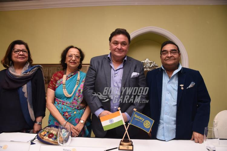 Rishi Kapoor and Dr. Batra at Rotary Club's event