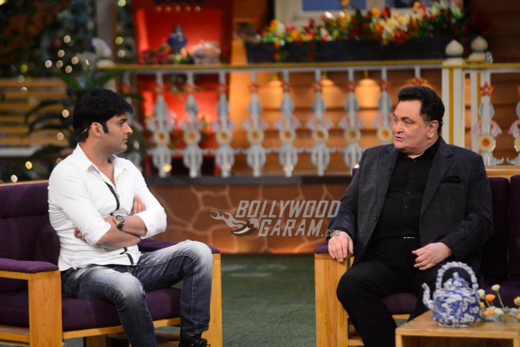 Kapil Sharma and Rishi Kapoor on The Kapil Sharma Show