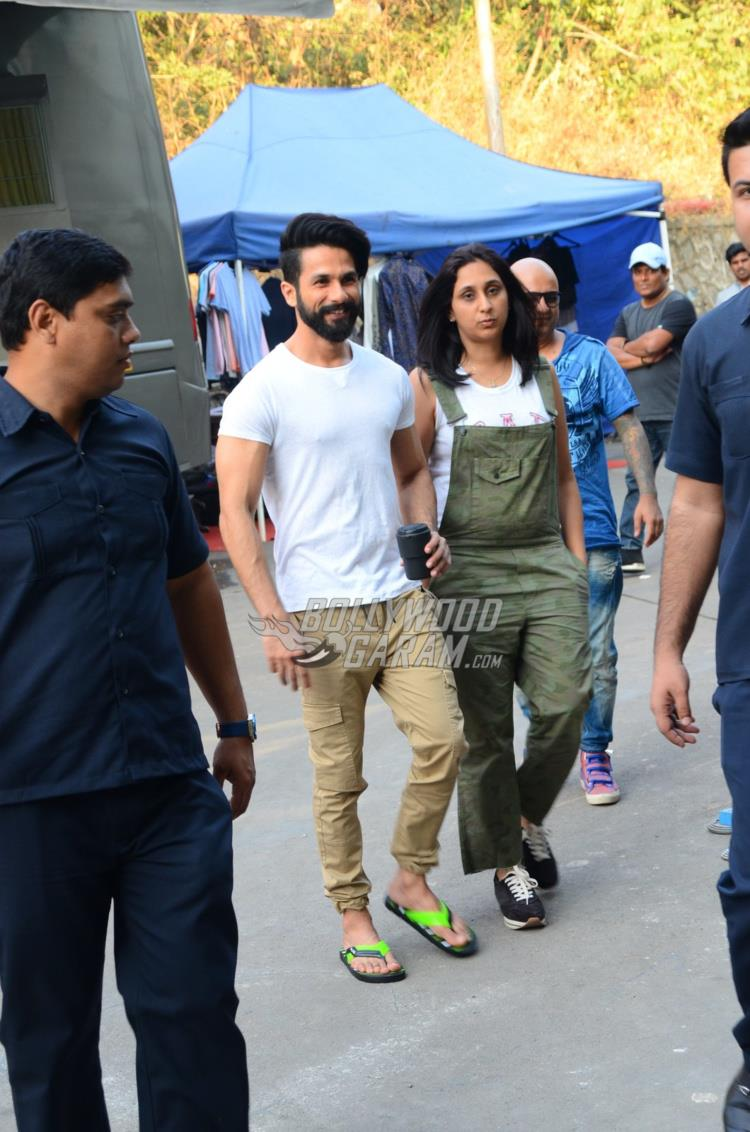 Shahid Kapoor at an ad shoot location