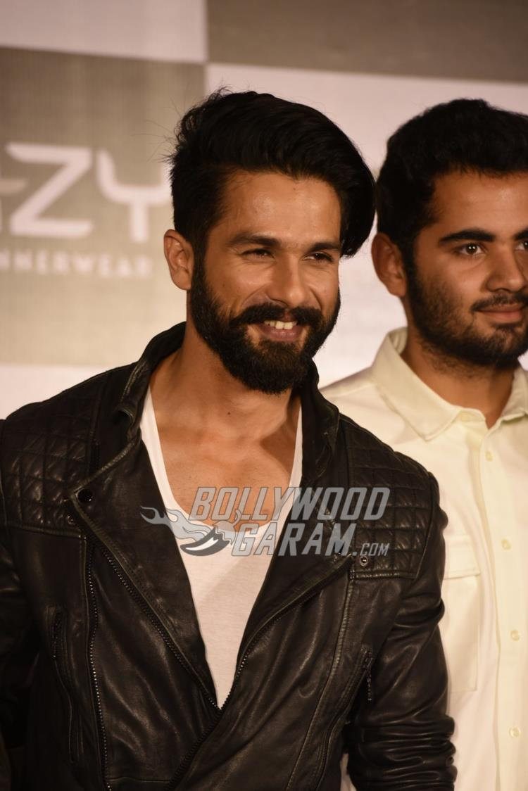 Shahid Kapoor all smiles at inner wear brand launch event