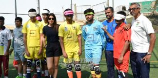 Shriya Saran Encourages Indian Blind Football Team