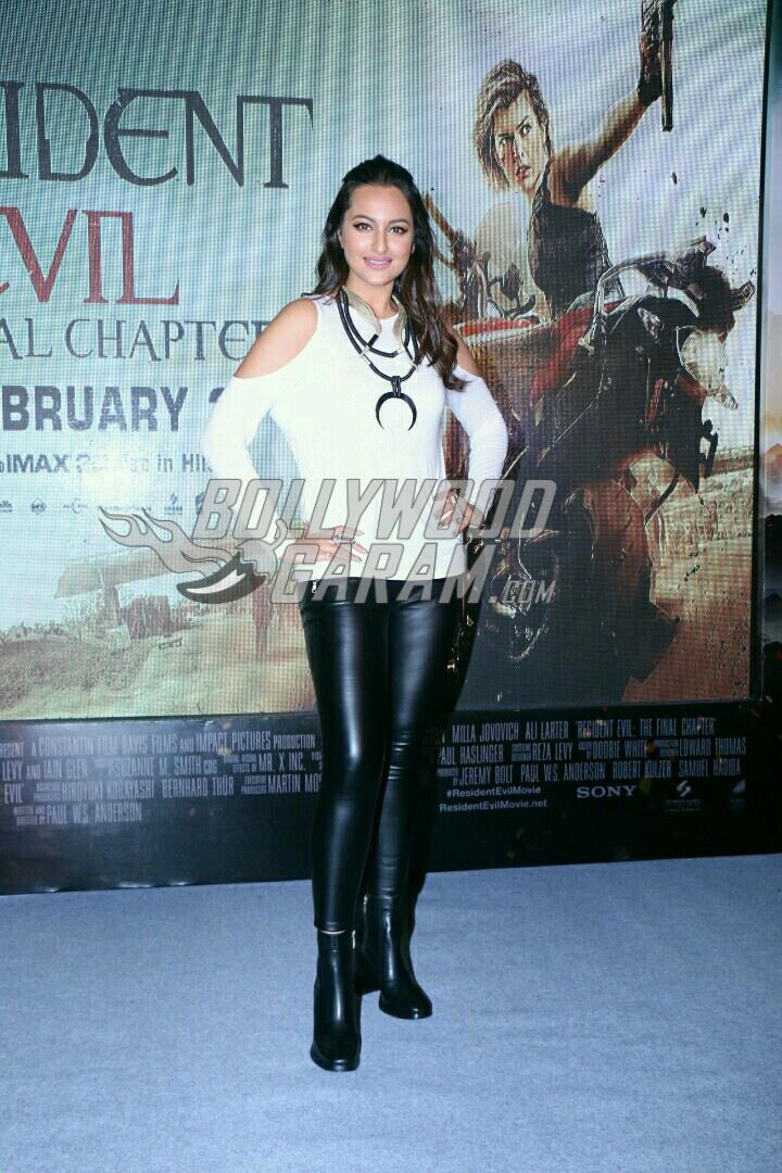 Sonakshi Sinha poses at Resident Evil experience event