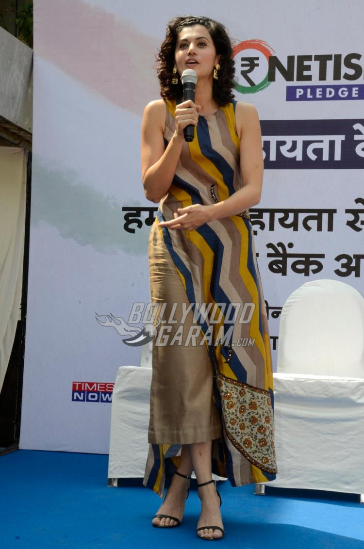 Taapsee Pannu Remonetise India initiative