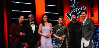 Kangana Ranaut and Shahid Kapoor promote Rangoon on The Voice