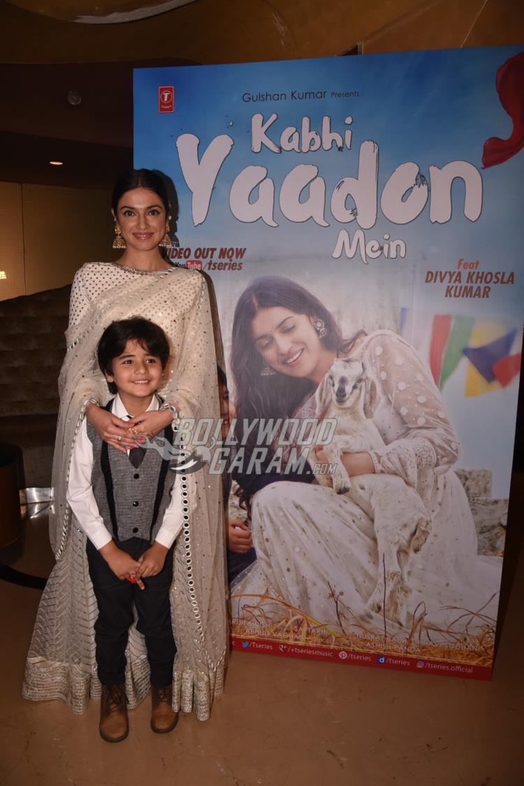 Divya Khosla and Jason D'Souza at Kabhi Yaadon Mein song launch