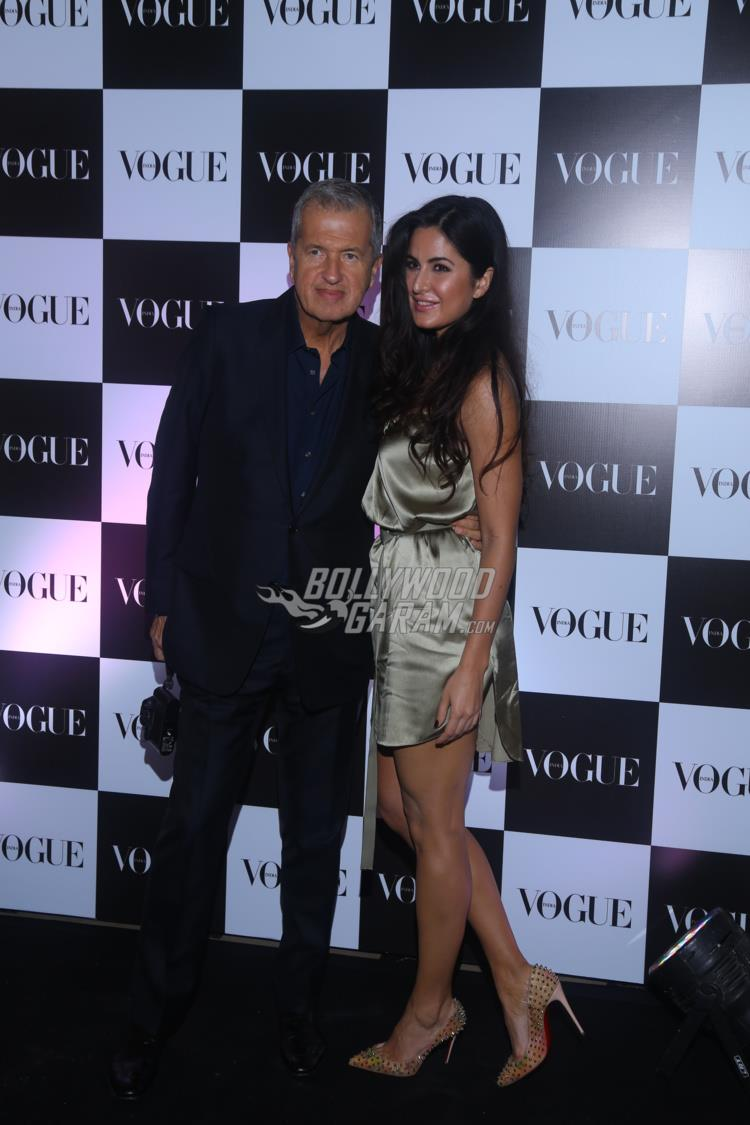 Mario Testno and Katrina Kaif at Vogue bash