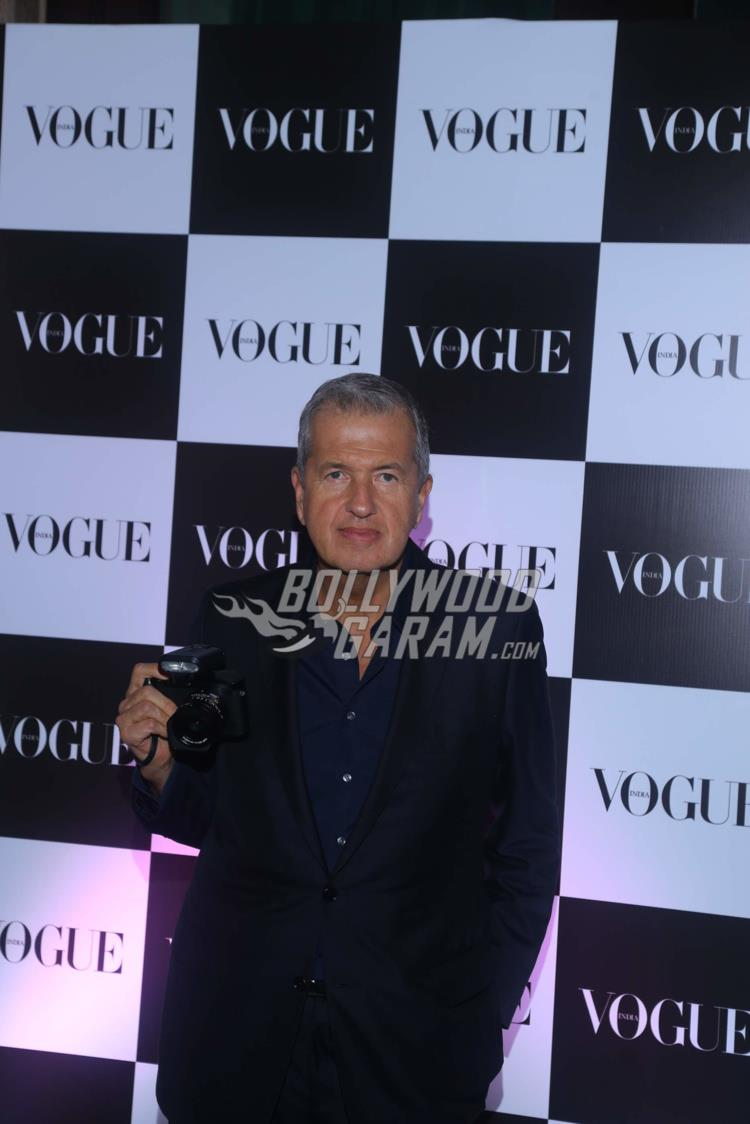 Mario Testino at Vogue bash