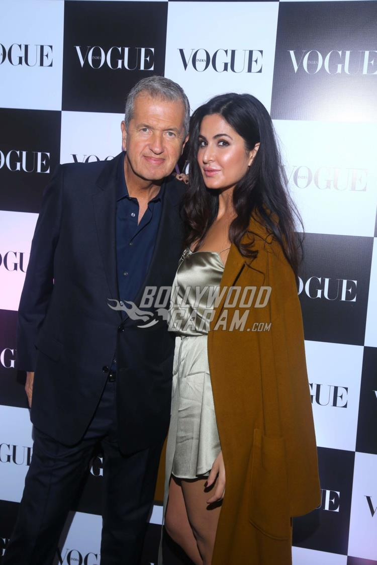 Mario Testino and Katrina Kaif at Vogue bash