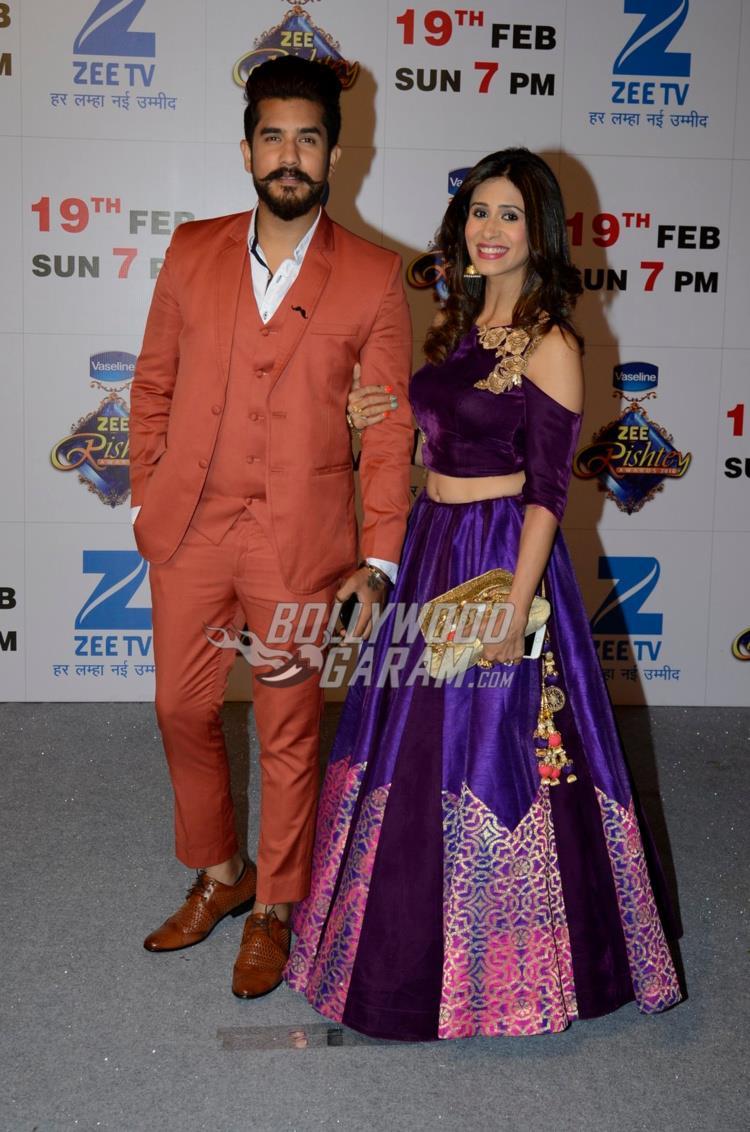 Suyyash Rai and Kishwer Merchant at Zee Rishtey Awards 2017