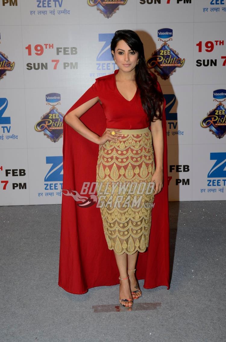 Anita Hassanandani at Zee Rishtey Awards 2017