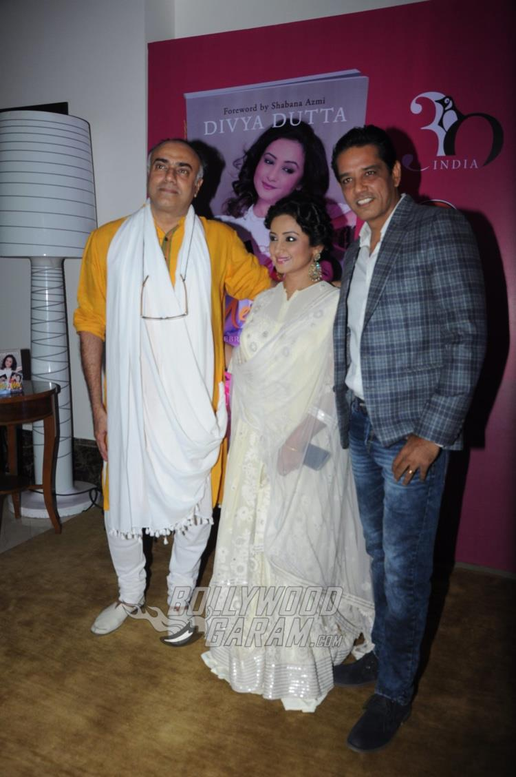 Rajit Kapoor, Divya Dutta and Anup Soni at Me and Ma book launch event